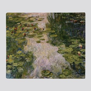 Water Lilies, Monet Throw Blanket