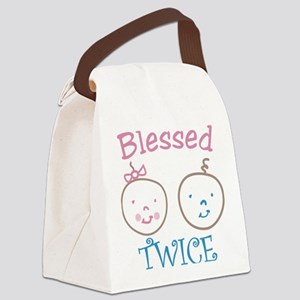 Blessed Twice Canvas Lunch Bag