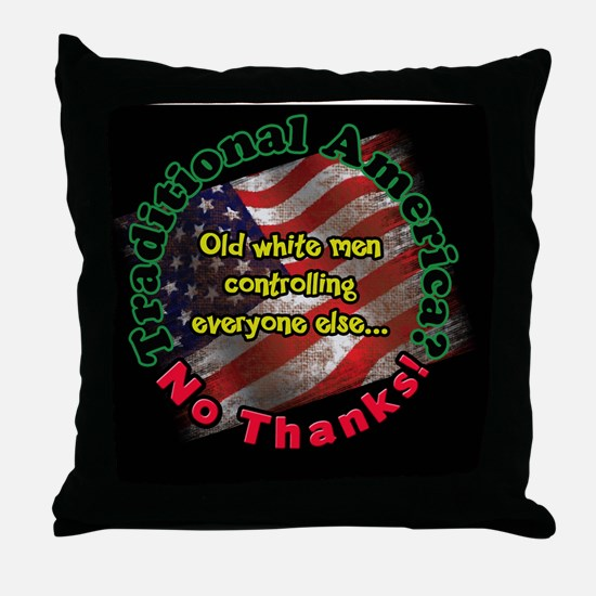 traditional2Lg. button round Throw Pillow