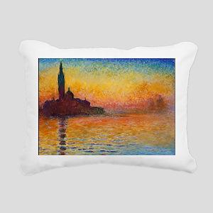 Monet, San Giorgio Maggi Rectangular Canvas Pillow