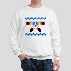 NATIVE AMERICAN BEADED STRIP Sweatshirt