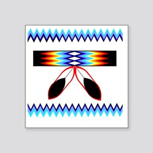"NATIVE AMERICAN BEADED STRI Square Sticker 3"" x 3"""