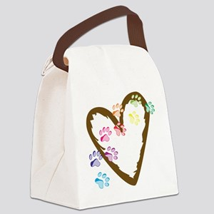 Paw Heart Canvas Lunch Bag