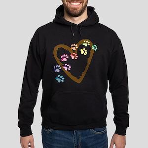 Paw Heart Hoodie (dark)