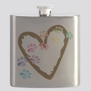 Paw Heart Flask
