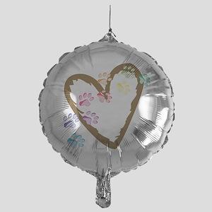 Paw Heart Mylar Balloon