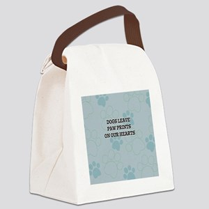 Dogs Leave Paw Prints Canvas Lunch Bag