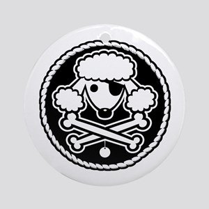 PoodlePirate-2cl Ornament (Round)