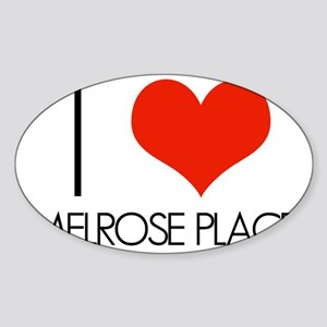 I Love Melrose Place Sticker (Oval)