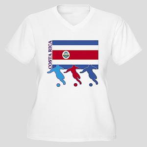Costa Rica Soccer Women's Plus Size V-Neck T-Shirt