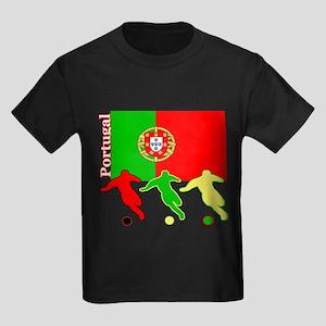 Portugal Soccer Kids Dark T-Shirt