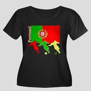Portugal Soccer Women's Plus Size Scoop Neck Dark