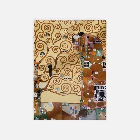 Gustav Klimt Tree Of Life 5'x7'Area Rug