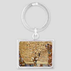 Gustav Klimt Tree Of Life Landscape Keychain