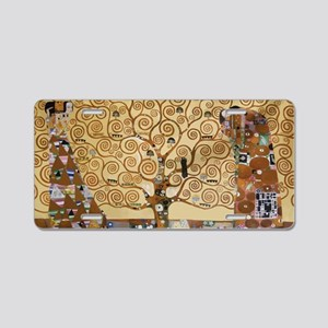 Gustav Klimt Tree Of Life Aluminum License Plate
