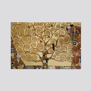 Gustav Klimt Tree Of Life Rectangle Magnet