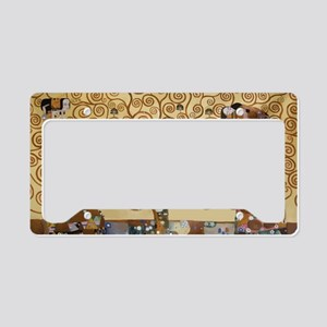Gustav Klimt Tree Of Life License Plate Holder