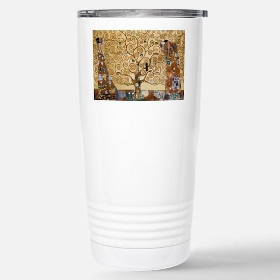 Gustav Klimt Tree Of Li Stainless Steel Travel Mug