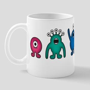 Kawaii Rainbow Alien Monsters Mug