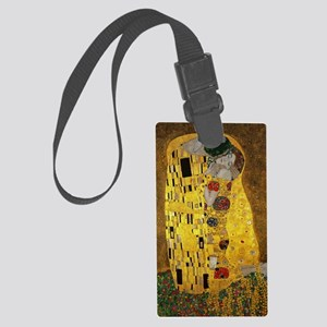 Gustav Klimt The Kiss Large Luggage Tag