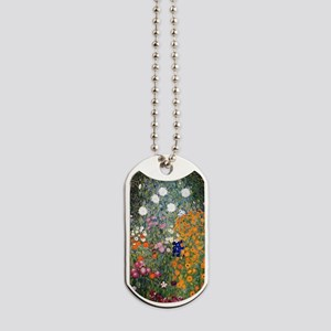 Gustav Klimt Flower Garden Dog Tags