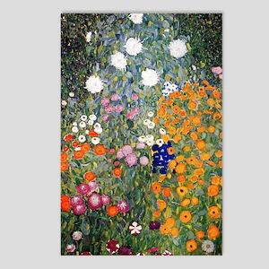 Gustav Klimt Flower Garde Postcards (Package of 8)