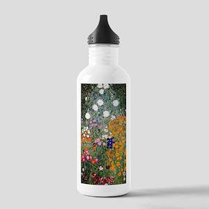 Gustav Klimt Flower Ga Stainless Water Bottle 1.0L