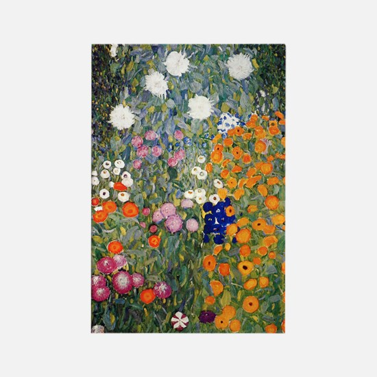 Gustav Klimt Flower Garden Rectangle Magnet