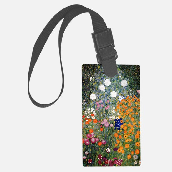 Gustav Klimt Flower Garden Large Luggage Tag