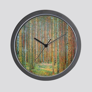 Gustav Klimt Pine Forest Wall Clock