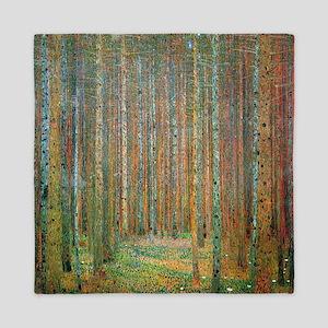 Gustav Klimt Pine Forest Queen Duvet