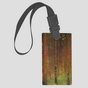 Gustav Klimt Tannenwald II Large Luggage Tag
