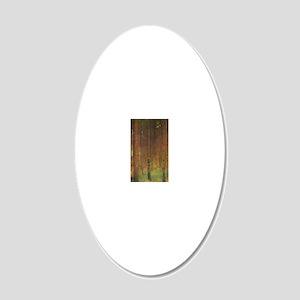Gustav Klimt Tannenwald II 20x12 Oval Wall Decal