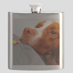 Candy corn dog Flask
