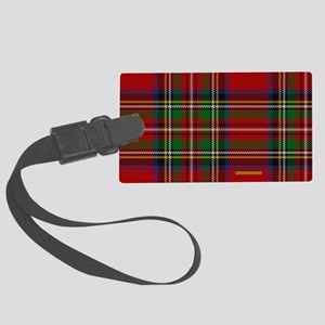 Stewart Tartan Plaid Large Luggage Tag