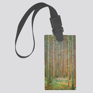 Gustav Klimt Pine Forest Large Luggage Tag