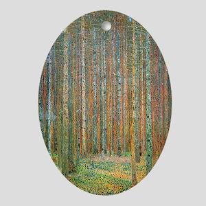 Gustav Klimt Pine Forest Oval Ornament