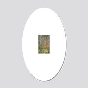 Gustav Klimt Pine Forest 20x12 Oval Wall Decal