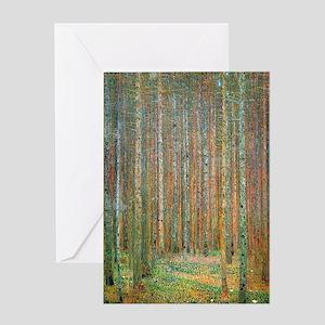 Gustav Klimt Pine Forest Greeting Card