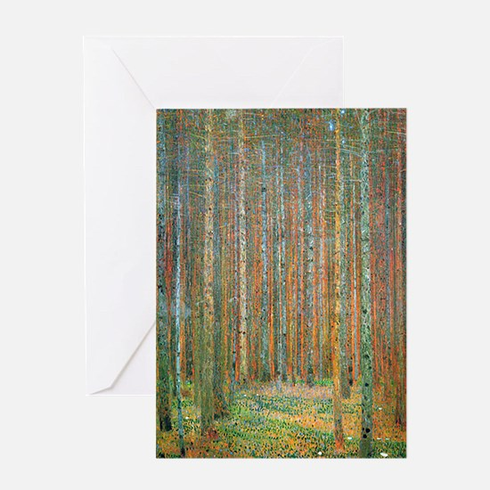 Gustav Klimt Pine Forest Greeting Card