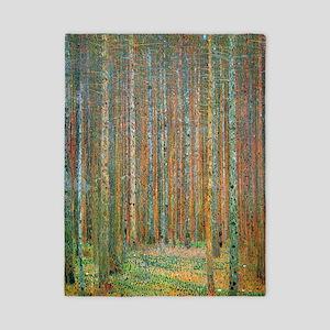 Gustav Klimt Pine Forest Twin Duvet