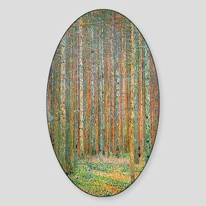 Gustav Klimt Pine Forest Sticker (Oval)