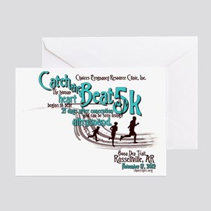 Catch the Beat 5K-Teal Greeting Card