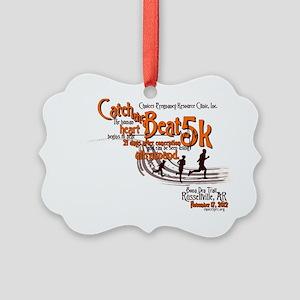 Catch the Beat 5K-Orange Picture Ornament