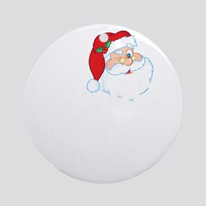 Santa's Ho Round Ornament