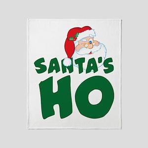 Santa's Ho Throw Blanket