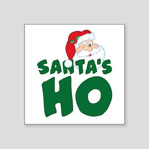 "Santa's Ho Square Sticker 3"" x 3"""