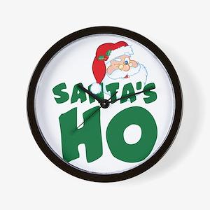 Santa's Ho Wall Clock