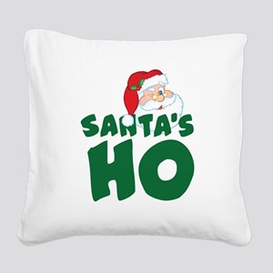 Santa's Ho Square Canvas Pillow