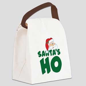 Santa's Ho Canvas Lunch Bag